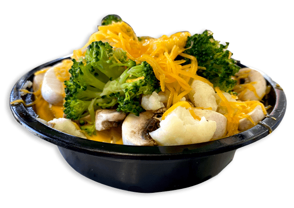 #27 Broccoli, Cauliflower, Mushroom, Onion & Cheddar